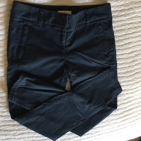 4ab65468f0 LOFT Pants - LOFT Skinny Zip Pocket Sateen Pant